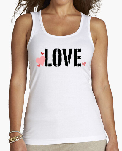Camiseta Love con corazones