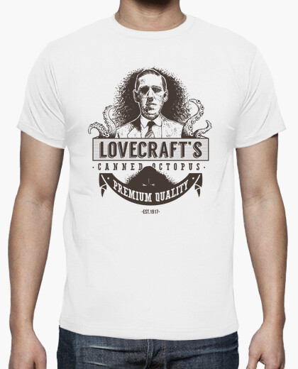 Camiseta Lovecraft's Canned Octopus (Oscura)