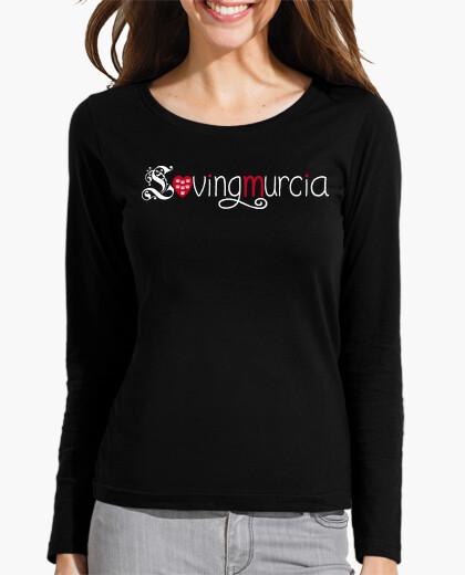Camiseta LovingMurcia Mujer, manga larga, negra
