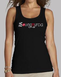 Camiseta LovingMurcia Mujer, sin mangas, negra