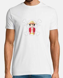 Camiseta Luffy One Piece Minimal Vector