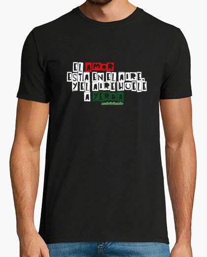 Camiseta Malviviendo- El amor está en el aire- negro