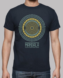 Camiseta Mandala La Vida Nunca Termina El Viaje Retro Geométrica Idea Regalo Cumpleaños