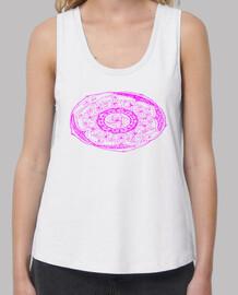 Camiseta mandala rosa