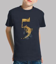 Camiseta manga corta 5 años dorado niña