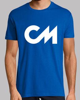 Camiseta Manga Corta Azul/Logo Blanco, calidad extra