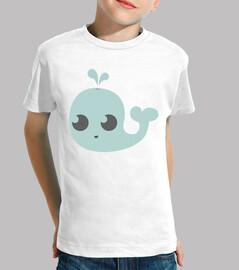 Camiseta manga corta, ballena varios colores