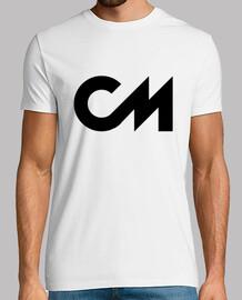 Camiseta Manga Corta Blanca/Logo Negro, calidad extra