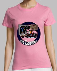 Camiseta manga corta chica DeLorean