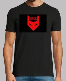 camiseta manga corta con decoración de un lobo