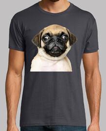 Camiseta manga corta hombre diseño Perro Pug Carlino bebe