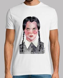 Camiseta manga corta hombre Miercoles Wednesday Addams