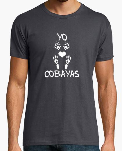 Camiseta manga corta hombre Yo amo las cobayas