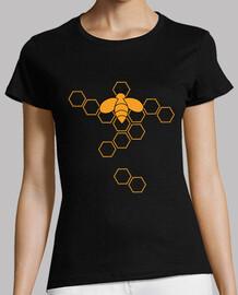Camiseta manga corta mujer diseño abejas