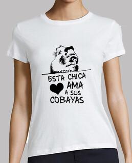 Camiseta manga corta mujer Esta chica ama a sus cobayas