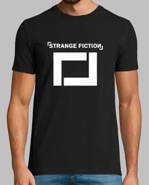 Camiseta manga corta negra de chico / logo color blanco