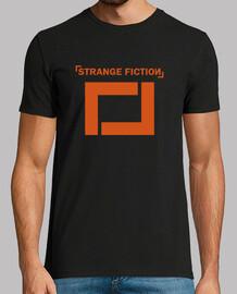 Camiseta manga corta negra de chico / logo color naranja