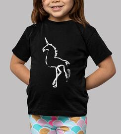 Camiseta manga corta niñ@ - Flamencornio silueta blanca