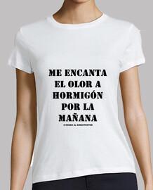 Camiseta manga corta para arquitectas - Hormigón black - Cosas de Arquitectos