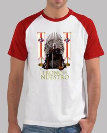 Camiseta manga corta para hombre SDHuesca El Trono es Nuestro, blanca y roja
