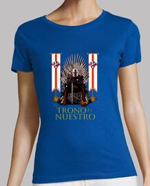 Camiseta manga corta para mujer SDHuesca El Trono es Nuestro, varios colores