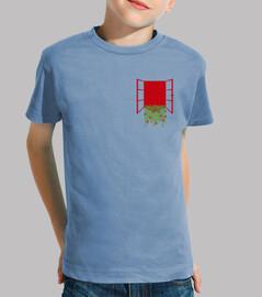 Camiseta manga corta para niños con bolsillo