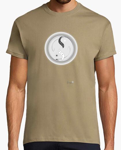 Camiseta manga corta yin yang B & N