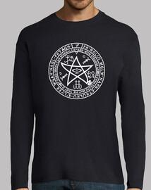 Camiseta manga larga Cthulhu pentaculo