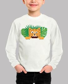 Camiseta manga larga de tigre para niños