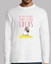 Camiseta manga larga hombre con diseño Arre Unicornio