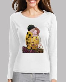 Camiseta manga larga Kokeshi El Beso estilo Klimt