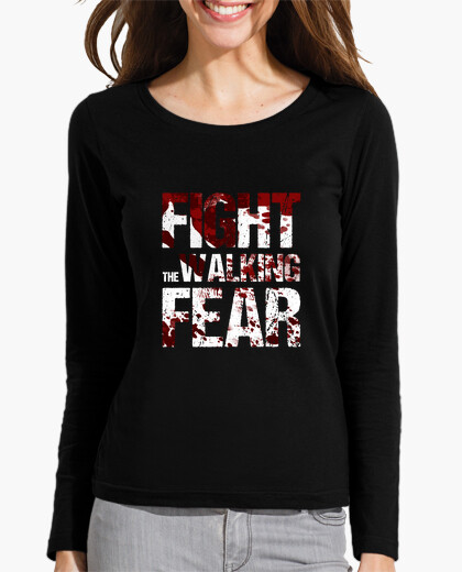 Camiseta manga larga mujer Fight the Walking Fear