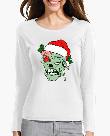 Camiseta manga larga mujer Navidad Zombie