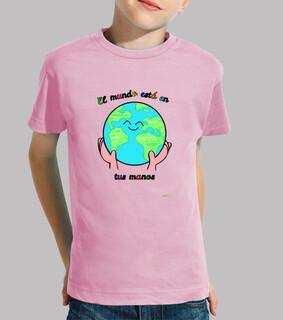 Camiseta manga larga para niños - Mundo