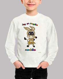 Camiseta manga larga para niños: Burrito bailarín