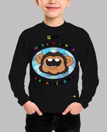 Camiseta manga larga para niños: Monito gracioso