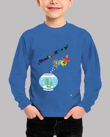 Camiseta manga larga para niños: Mundo, allá voy
