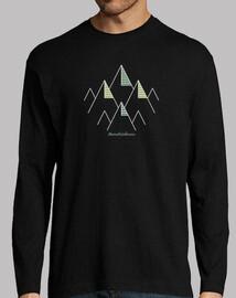 Camiseta manga larga, senderismo, montaña, aventura
