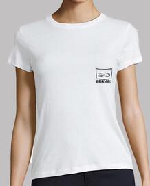 camiseta manga weiße kurze para chica