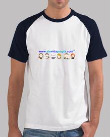 Camiseta mangas de color Sin Vida Propia