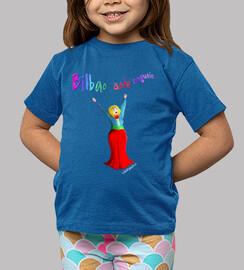 Camiseta Marijaia niño/niña, azul Bilbao