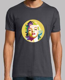 Camiseta Marylin Negra Hombre
