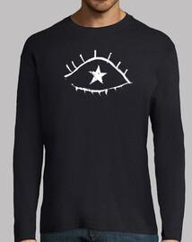 Camiseta masculina, manga larga
