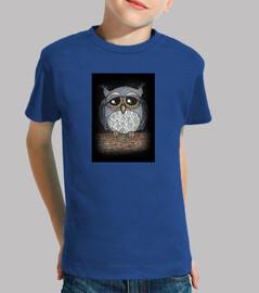 Camiseta m/c niño búho