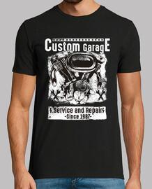 Camiseta Mecánicos Bikers Custom Garage