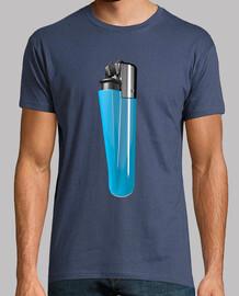 Camiseta mechero azul