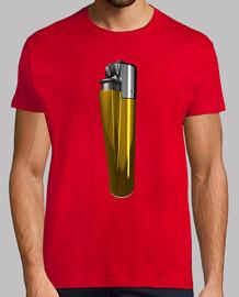 Camiseta mechero dorado