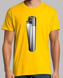 Camiseta mechero plata