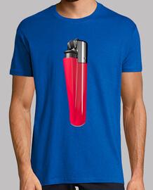 Camiseta mechero rojo