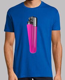 Camiseta mechero rosa